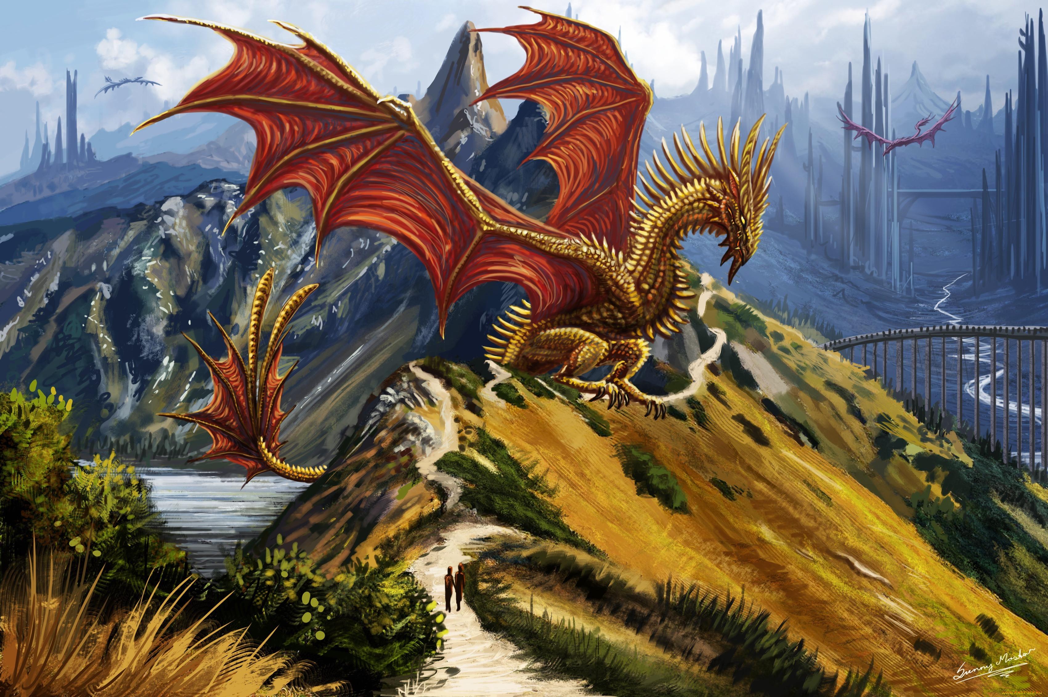 картинки фентези с драконами дети